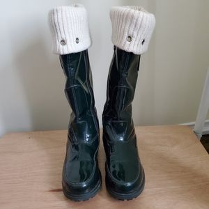 Geox Green High Boots Size 38